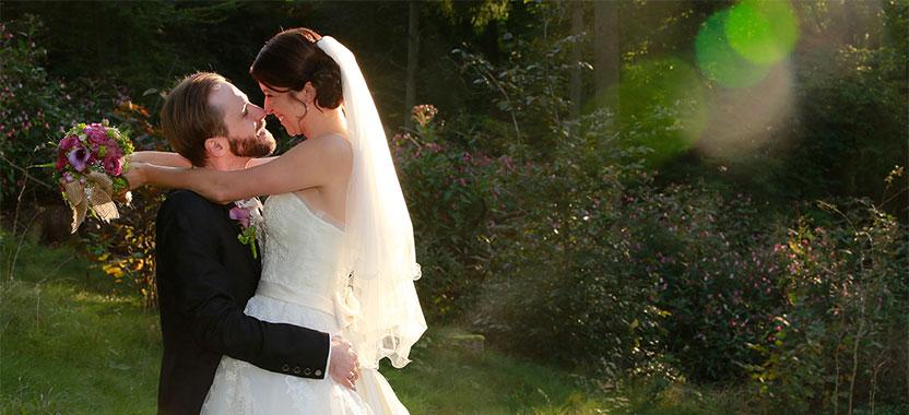 Hochzeitsportait im Grünen